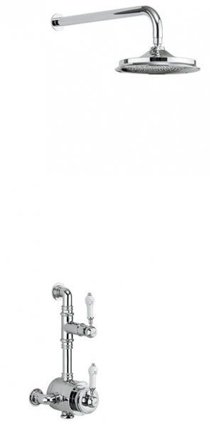 Burlington Stour Thermostatic Exposed Shower Valve with Fixed Shower Arm