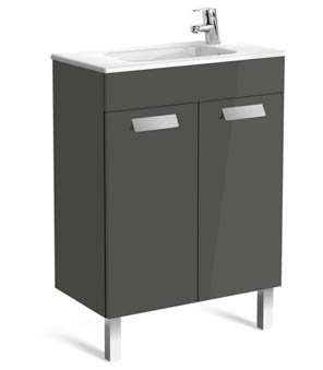 Roca Debba 605mm Compact Basin & Unit (2 Door)