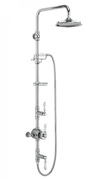 Burlington Stour Thermostatic Two Outlet Exposed Shower Valve