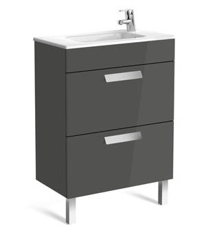 Roca Debba 605mm Compact Basin & Unit (2 Drawer)