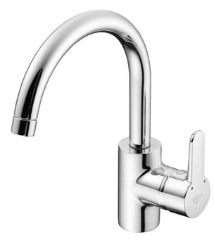 Ideal Standard Concept 1 Hole Kitchen Mixer with Tubular Spout