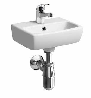 Twyford e100 Square 36cm Handrinse Basin (1 Taphole)