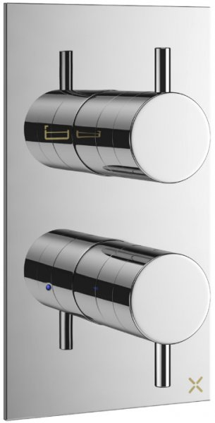 Crosswater Mike Pro Double Outlet Thermostatic Valve with Diverter