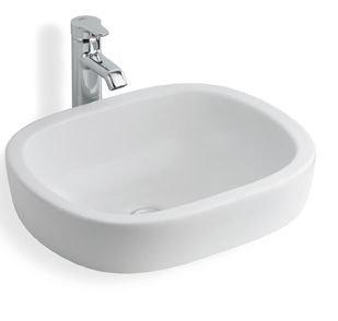 Bathroom Bowl Inset//over Counter 46cm Rak Ceramic lily Cloakroom Wash Basin