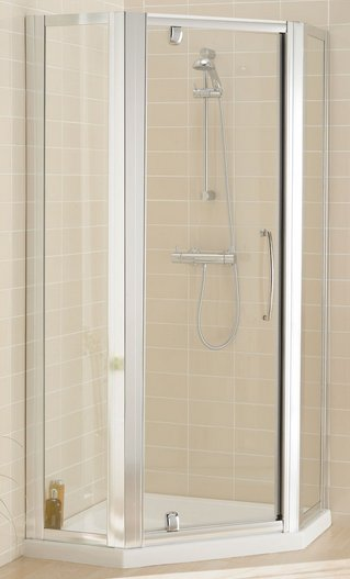 Lakes Semi-Frameless Pentagon Pivot Door