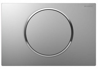 Geberit Sigma 10 Stainless Steel Brushed/Polished/Brushed/Anti-Vandal Single Flush Plate