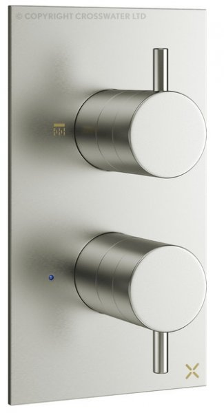 Crosswater Mike Pro Double Outlet Thermostatic Bath Shower Valve