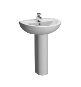 Vitra Layton Two Tap Hole 45cm Cloakroom Basin