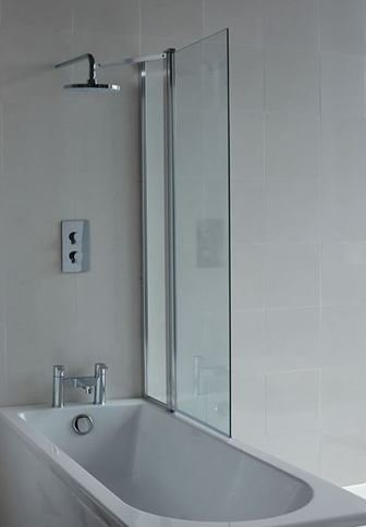 Cleargreen Hinged Bath Screen With Fixed Panel Bathroom