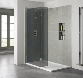 April Prestige 2 10mm Wetroom Panel - Smoked Glass