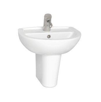 Vitra Layton Two Tap Hole 50cm Cloakroom Basin