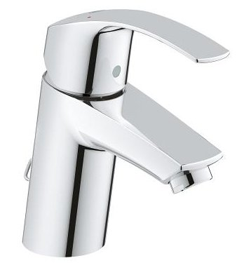 Grohe Eurosmart Basin Mixer with Rectractable Chain