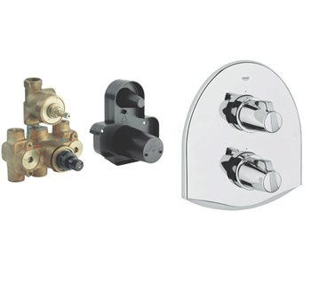 Grohe Chiara Thermostatic Bath/Shower Mixer With Finish Set