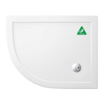 Zamori 1000 x 800mm Anti-Slip Offset Quadrant Shower Tray