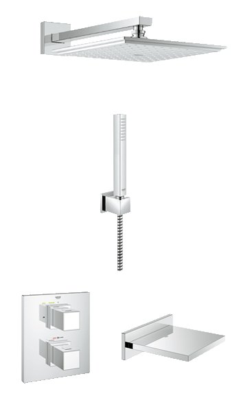 Grohe Shower Solutions Grohtherm Cube Bath/Shower Mixer (118330)