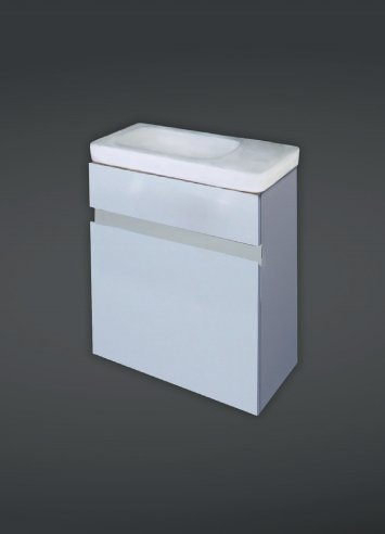 RAK Resort White Slimline Cabinet