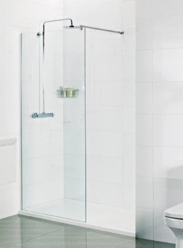 Roman Select 8mm 400mm Wetroom Panel