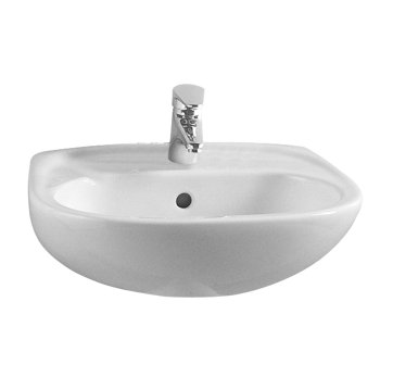 Vitra Commercial One Tap Hole 45cm Basin