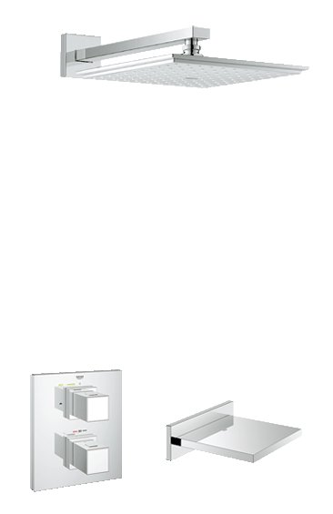 Grohe Shower Solutions Grohtherm Cube Bath/Shower Mixer (118327)