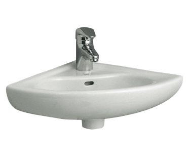 Vitra Commercial Two Tap Hole 40cm Corner Basin