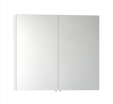 Vitra S50 High Gloss White 100cm Classic Mirror Cabinet