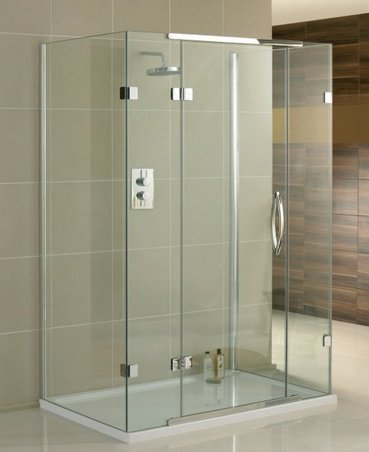 Aquadart Inline 1200 x 900mm 3 Sided Hinged Enclosure