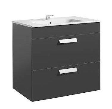 Roca Debba 805mm Gloss Anthracite Grey Basin Unit (2 Drawer)