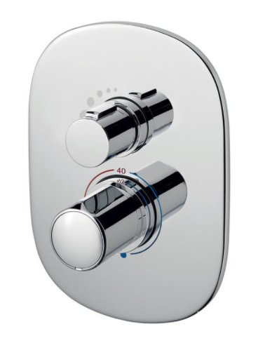 Sottini Basento Oval Thermostatic Built In Shower Mixer