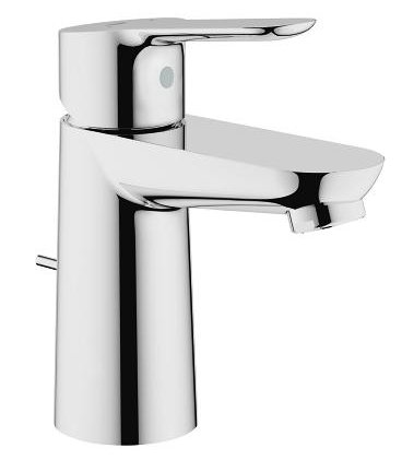 Grohe BauEdge Basin Mixer Pop-up Waste Bathroom Supplies Online
