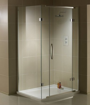 Aquadart Inline 900 x 900mm 2 Sided Hinged Enclosure