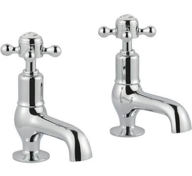 JTP Grosvenor Cross Chrome Cloakroom Basin Taps