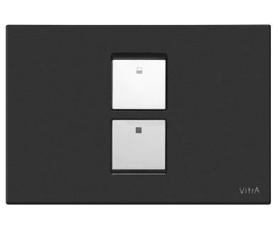 Vitra Matt Black Twin 2 Flush Plate