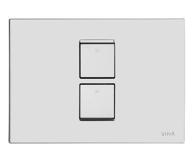Vitra High Gloss Chrome Plated Twin 2 Flush Plate