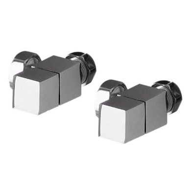 Redroom Chrome Angled Square Valve Pack