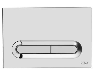 Vitra Chrome Plated Loop T Panel Flush Plate