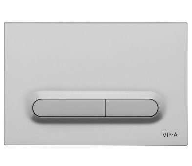 Vitra Matt Chrome Plated Photocell Loop T Panel Flush Plate