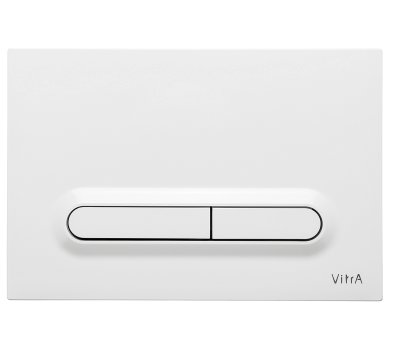 Vitra Gloss White Loop T Panel Flush Plate
