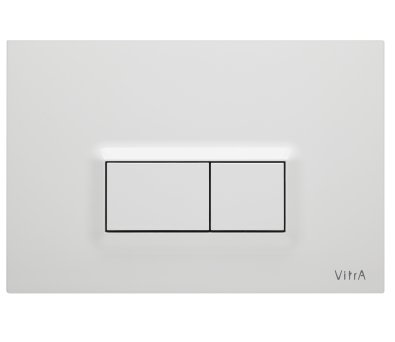 Vitra Gloss White Loop R Panel Flush Plate