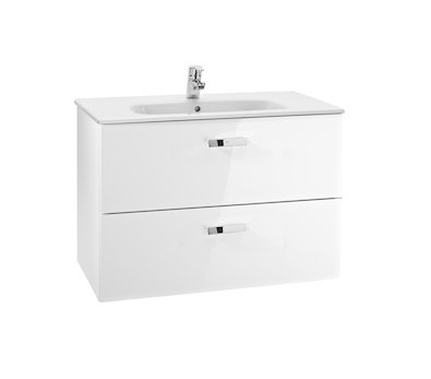 Roca Victoria Basic 800mm Basin and Furniture Base Unit with 2 Drawers