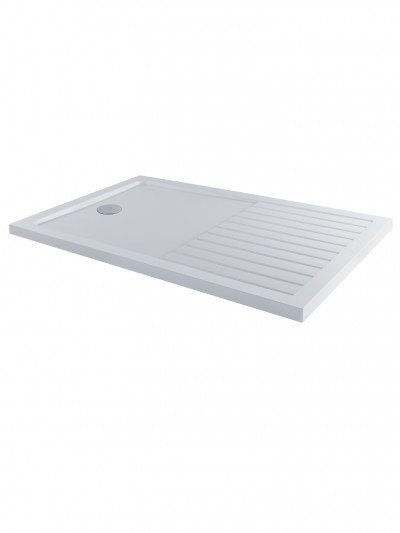 MX Elements 1400 x 900mm Walk-In Shower Tray with Drying Area
