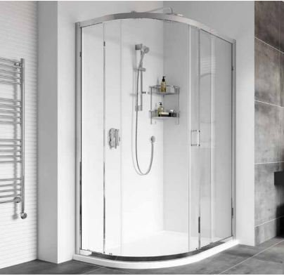 Roman Showers Haven Offset Double Door Quadrant Shower Enclosure - 800mm X 1200mm