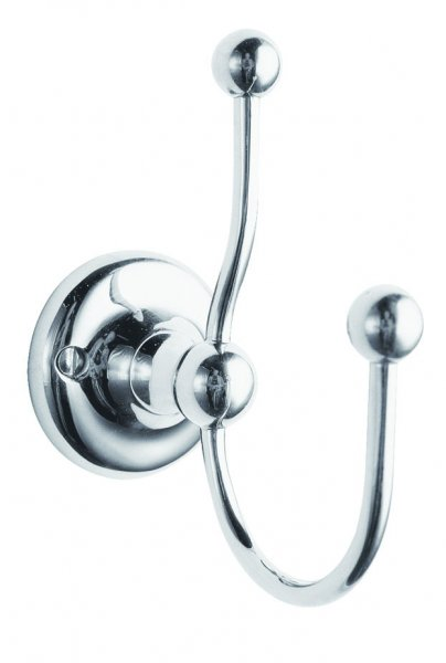 Bayswater Chrome Double Robe Hook
