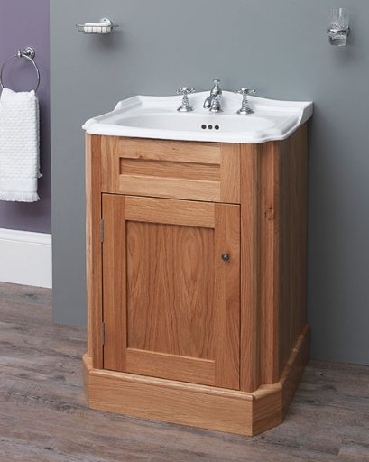 Silverdale Balasani 600mm Basin with Oak Cabinet