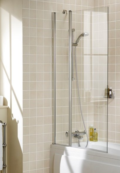 Lakes Square Double Panel Bath Screen