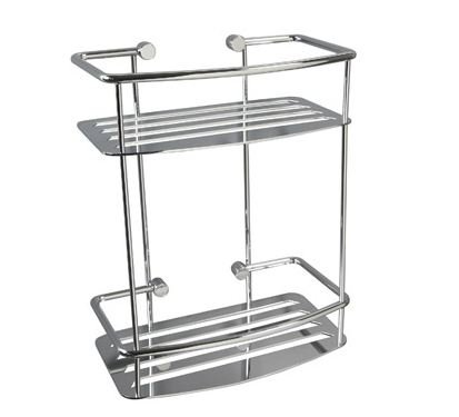 Miller Classic D Shaped Two Tier Shower Shelf