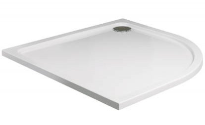 Roman 900 x 800mm Right Hand Offset Quadrant Shower Tray