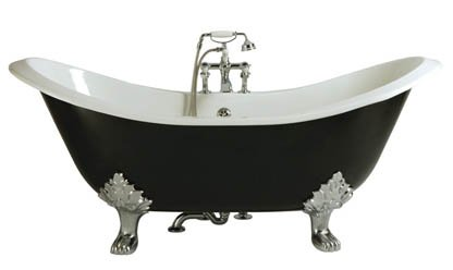 Heritage Devon Freestanding Cast Iron Double Ended Slipper Bath