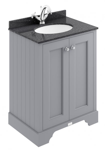 Bayswater 600mm Plummett Grey 2 Door Basin Cabinet