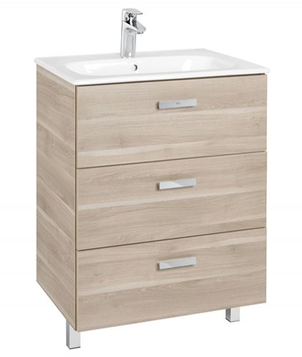 Roca Victoria Basic 600mm Basin and Furniture Base Unit with 3 Drawers