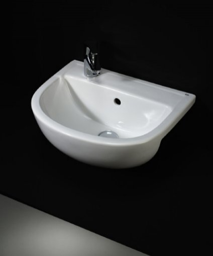 RAK Compact 40cm 1 Tap Hole Semi Recessed Basin